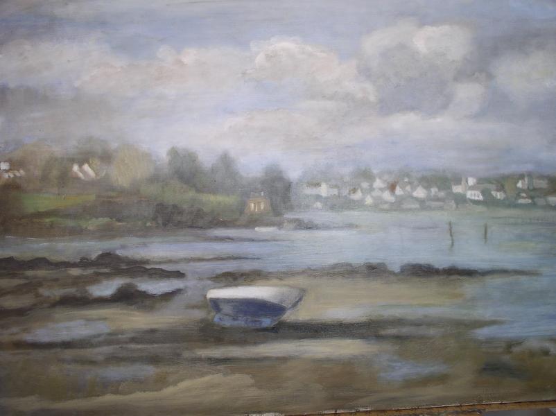 A Brouel. Huile sur toile de Dominique Trémois Chazot.