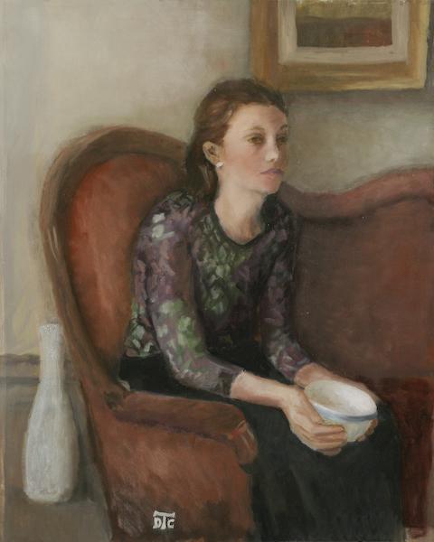 Épanouissement. Huile sur toile de Dominique Trémois Chazot.