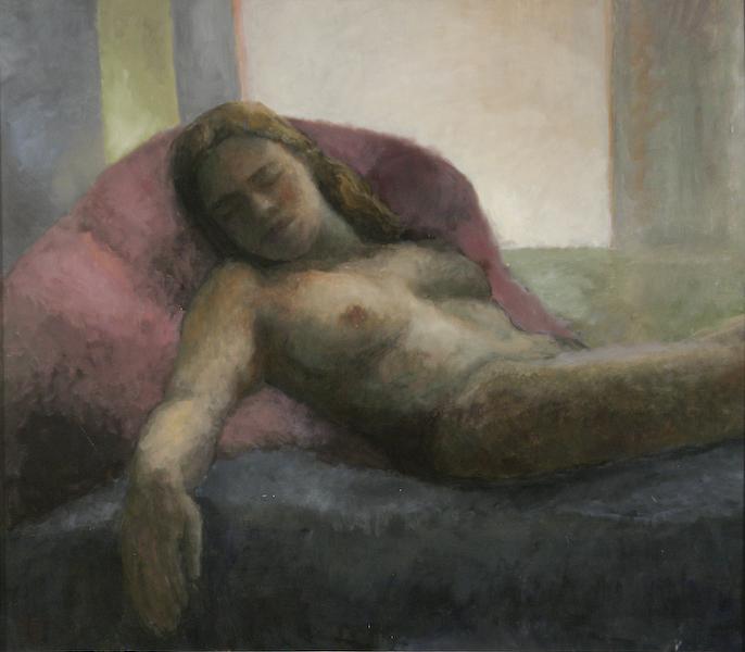 Lassitude. Huile sur toile de Dominique Trémois Chazot.
