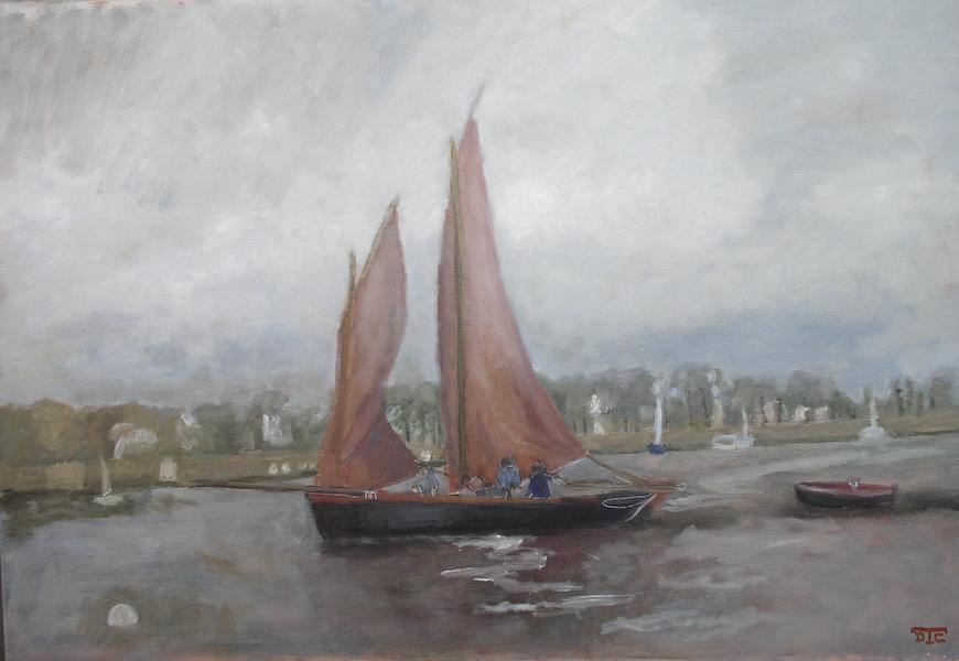 Le Sinagot. Huile sur toile de Dominique Trémois Chazot.