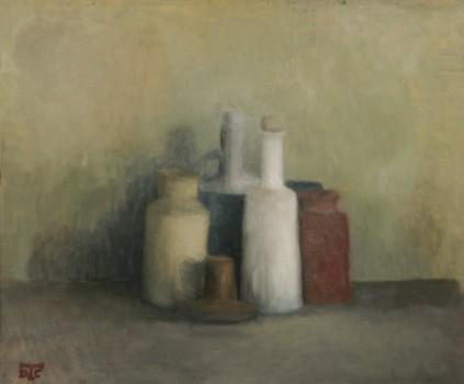 Rouge. Huile sur toile de Dominique Trémois Chazot