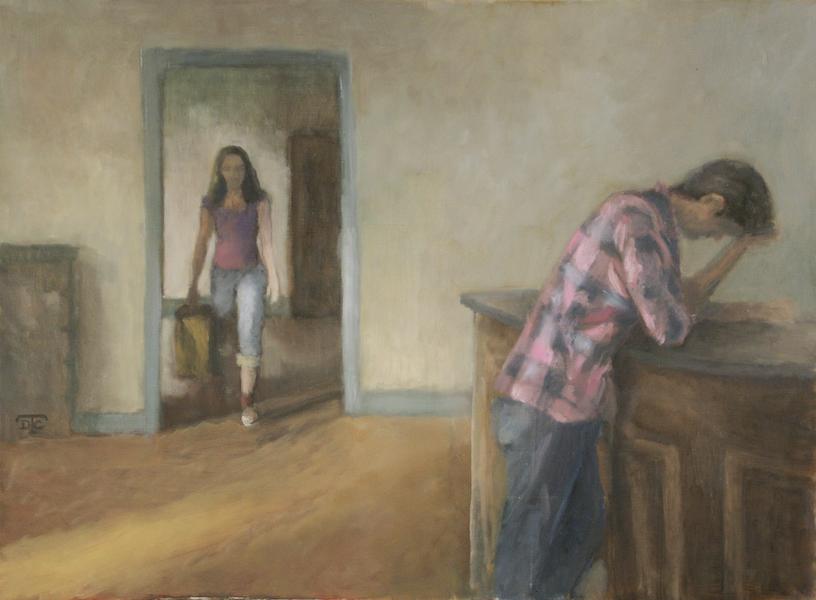Séparation. Huile sur toile de Dominique Trémois Chazot