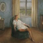 Alanguie. Huile sur toile de Dominique Trémois Chazot