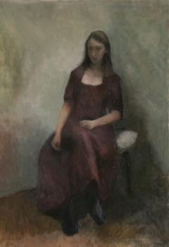 Annonciation. Huile sur toile de Dominique Trémois Chazot.