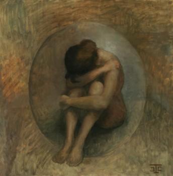 Chrysalide. Huile sur toile de Dominique Trémois Chazot.