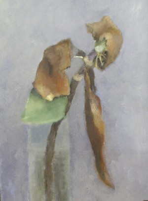 Combat. Huile sur toile de Dominique Trémois Chazot