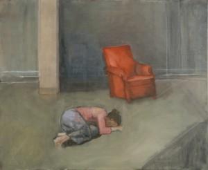 Désespoir. Huile sur toile de Dominique Trémois Chazot