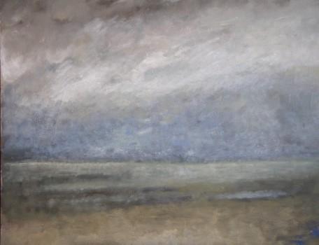 L'Embellie. Huile sur toile de Dominique Trémois Chazot.