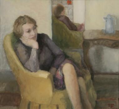 Five O'clock tea. Huile sur toile de Dominique Trémois Chazot.