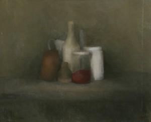 Groseilles. Huile sur toile marouflée de Dominique Trémois Chazot