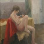 La solitude. Huile sur toile de Dominique Trémois Chazot.