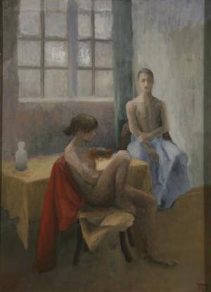Le repentir. Huile sur toile marouflée de Dominique Trémois Chazot.