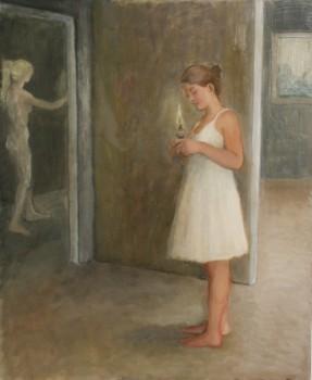 les vierges sages. Huile sur toile de Dominique Trémois Chazot
