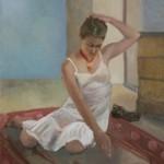 Ophélie. Huile sur toile de Dominique Trémois Chazot