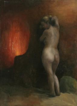 Orphée. Huile sur toile de Dominique Trémois Chazot.