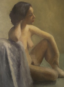 Sophie. Huile sur toile de Dominique Trémois Chazot