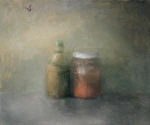 Les deux amis. Huile sur toile de Dominique Trémois Chazot.