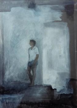 Passage. Huile sur toile marouflée de Dominique Trémois Chazot.